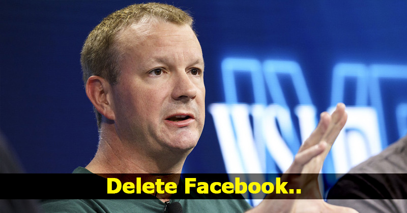 Here's Why WhatsApp Co-Founder Is Asking Everyone To Delete Their Facebook Account