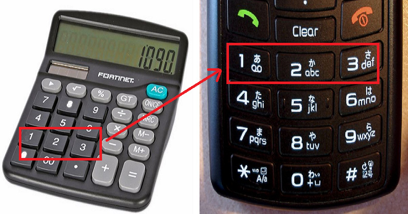 Ever Wondered Why Numbers On Calculators And Phones Are Reversed?