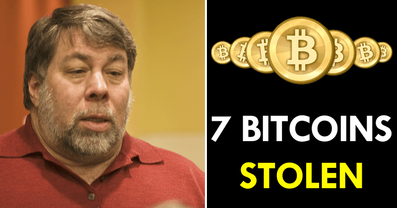 The Co-founder Of Apple Steve Wozniak Says Someone Stole 7 Bitcoins From Him