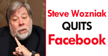 Apple Co-Founder Steve Wozniak Quits Facebook