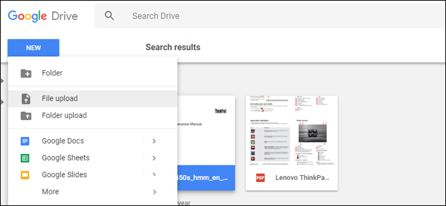 Upload PDF to Google Drive