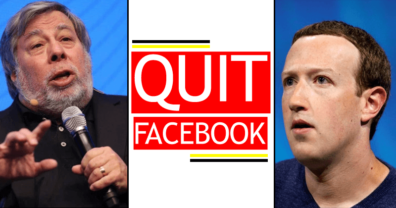 Apple Co-Founder Steve Wozniak: QUIT Facebook