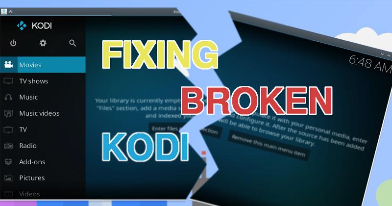 Kodi Search Not Working Error