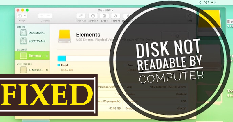 The Disk You Inserted Was Not Readable By This Computer Error [Fixed]
