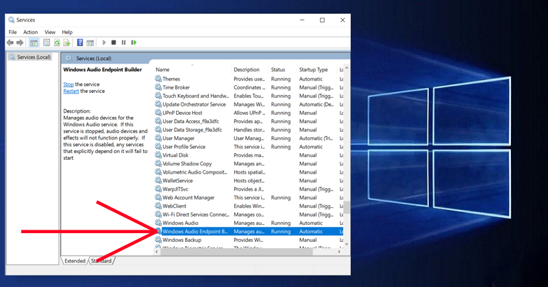 What is Windows Audio Endpoint Builder service And How To Start/Stop It