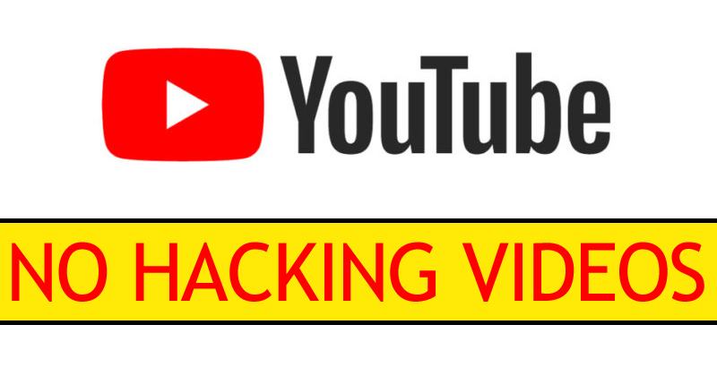 YouTube: No More Hacking Videos