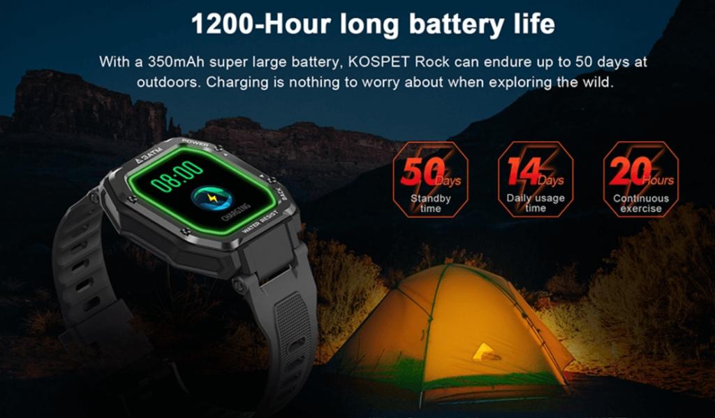 KOSPET ROCK Rugged Smartwatch Review