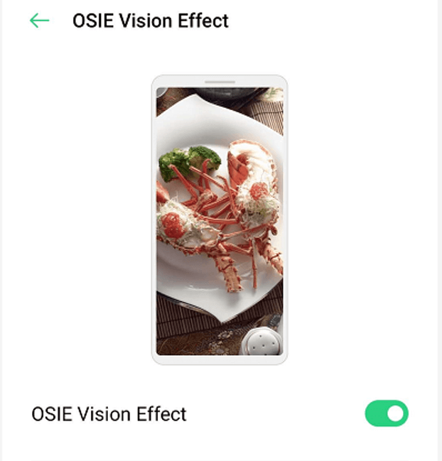 What is the OSIE vision effect or OSIE visual effect?