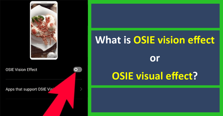 What is OSIE vision effect or OSIE visual effect?