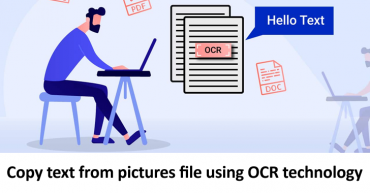 Copy text from pictures file using OCR technology